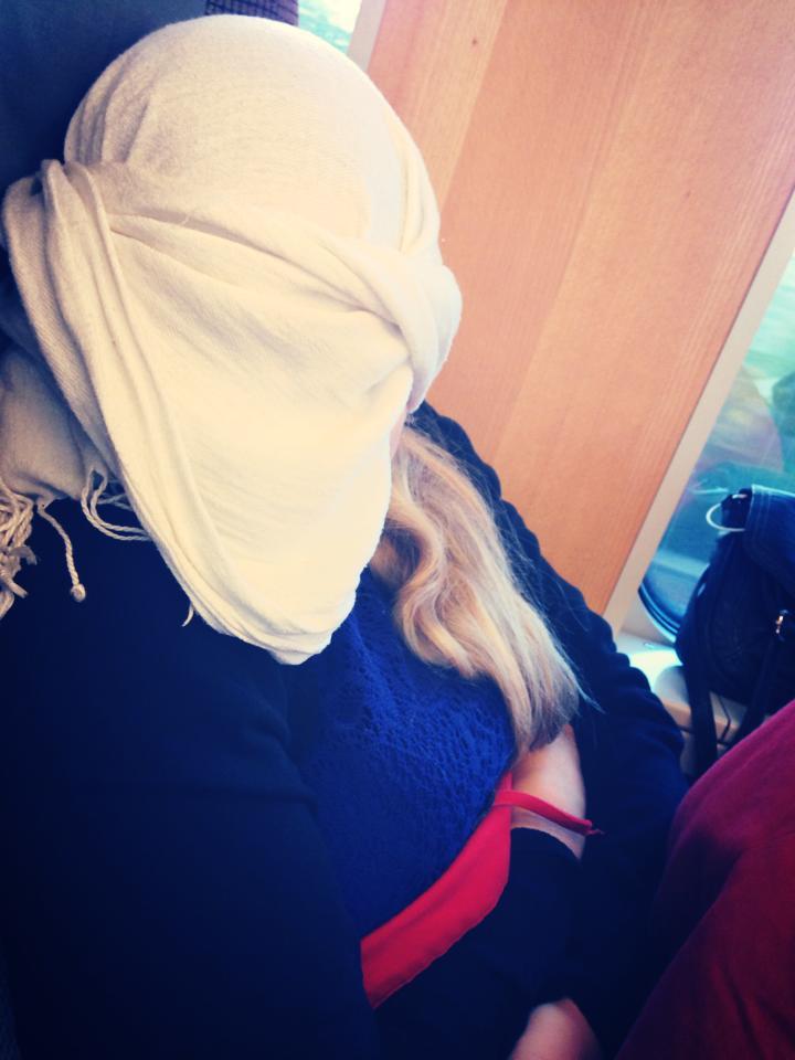 sjal som mörklägger