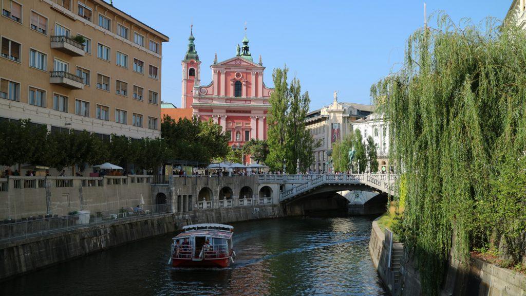 Åka båt i Ljubljana