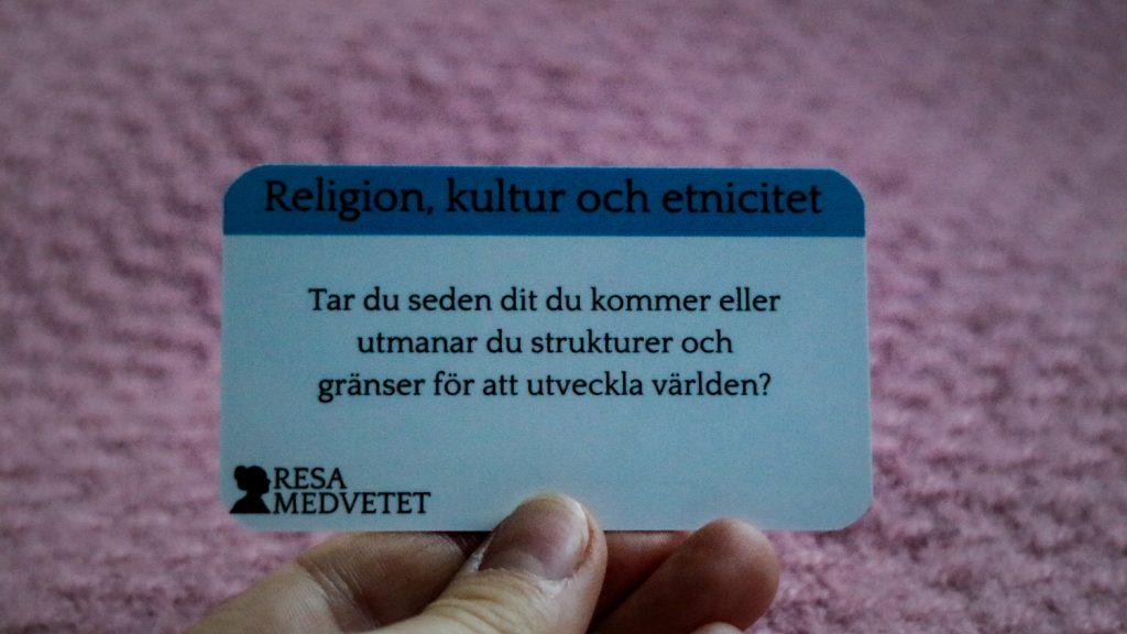 Restänk - konversationskort för att resa medvetet