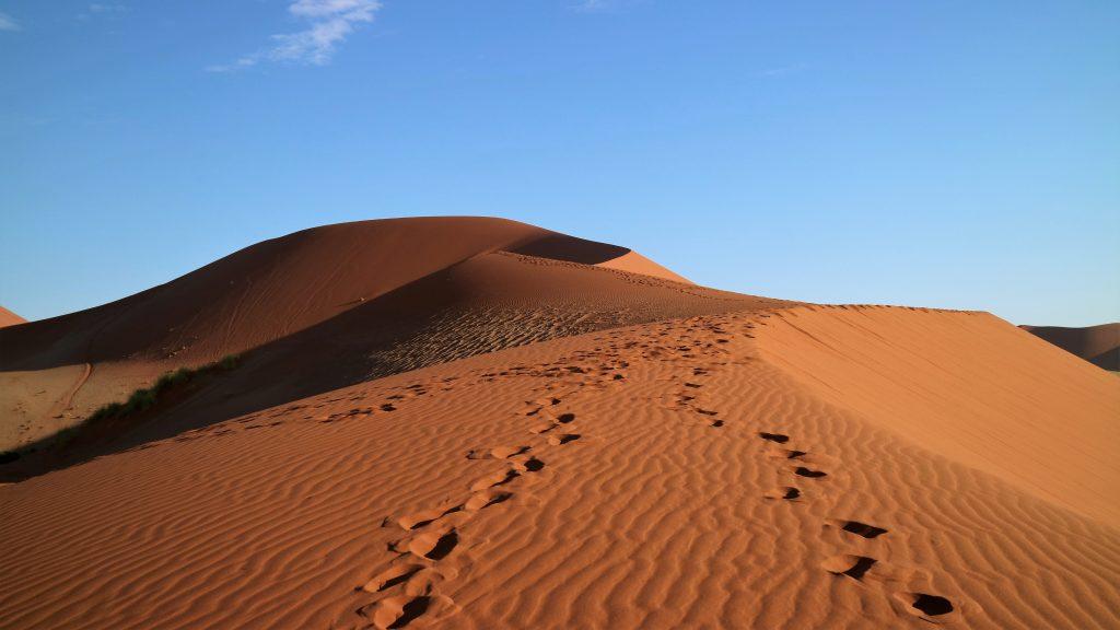 fotspår i namibia