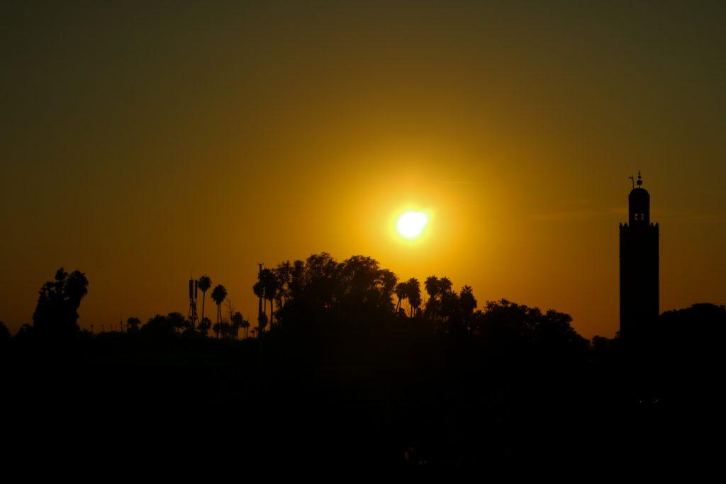 solnedgång marrakech
