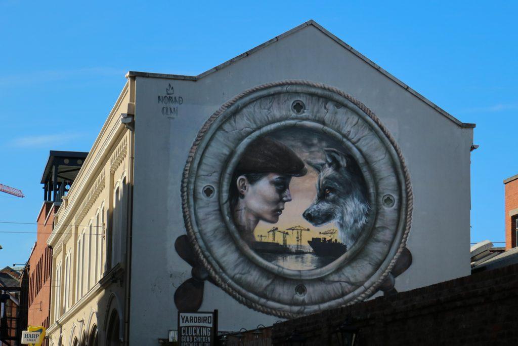 Muralmålning i Belfast