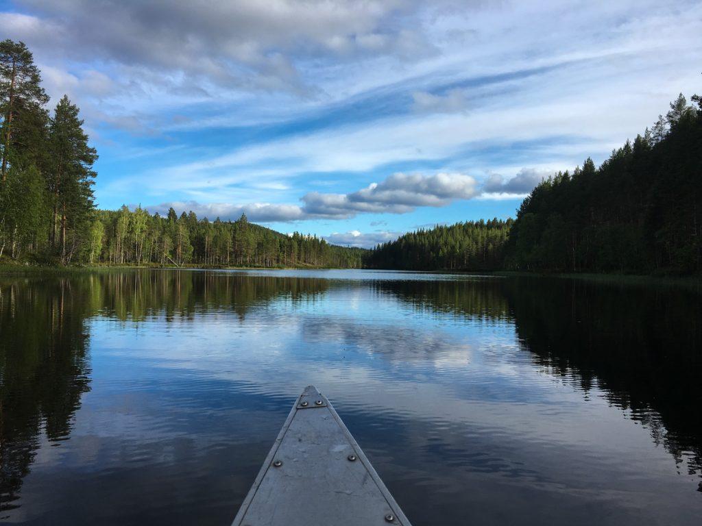 Paddla i Åmsele bil genom Västerbotten