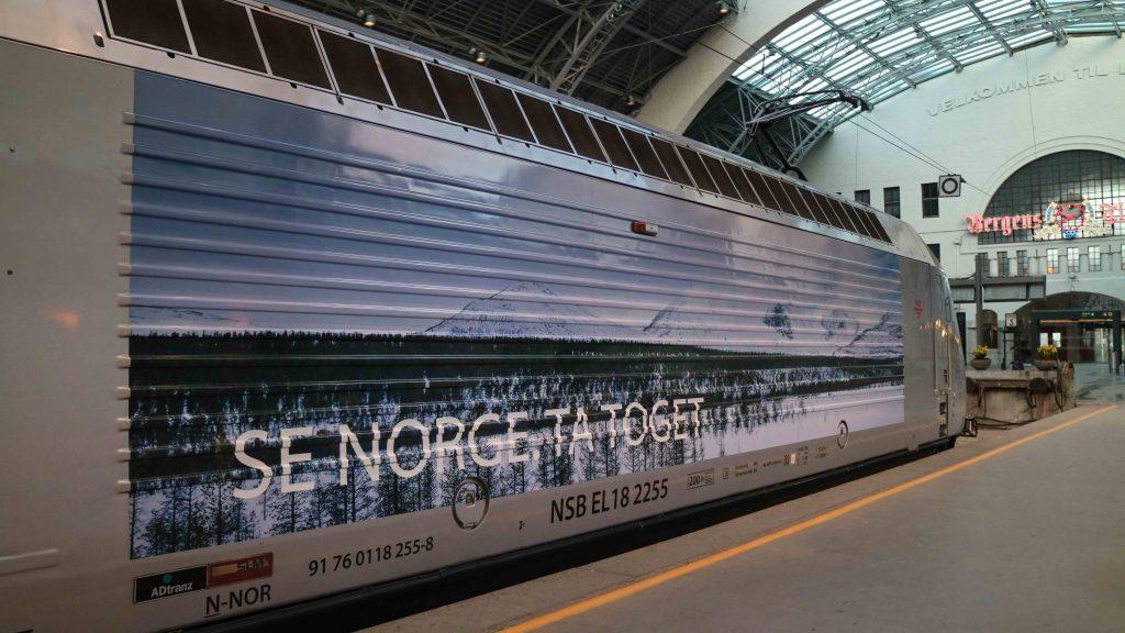 tågluff åka tåg i Norge