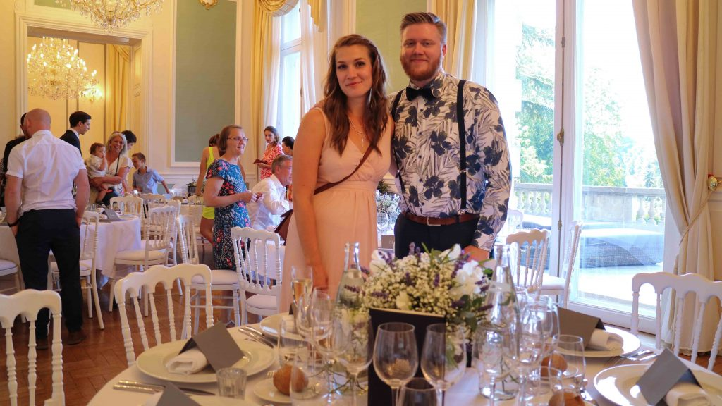 Svensk-fransk-engelskt bröllop i Frankrike chateau