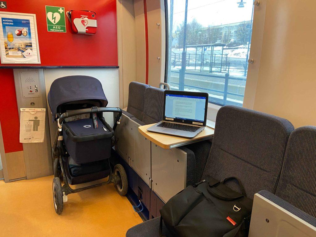 Barnvagn på Norrtåg