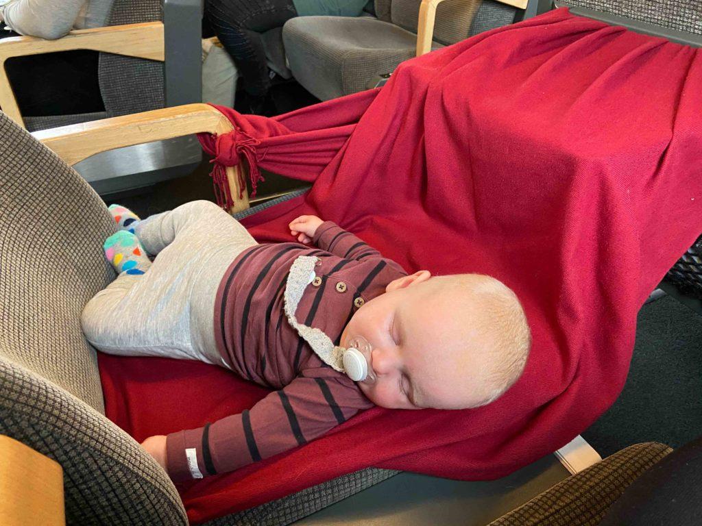 Bebis på tåg