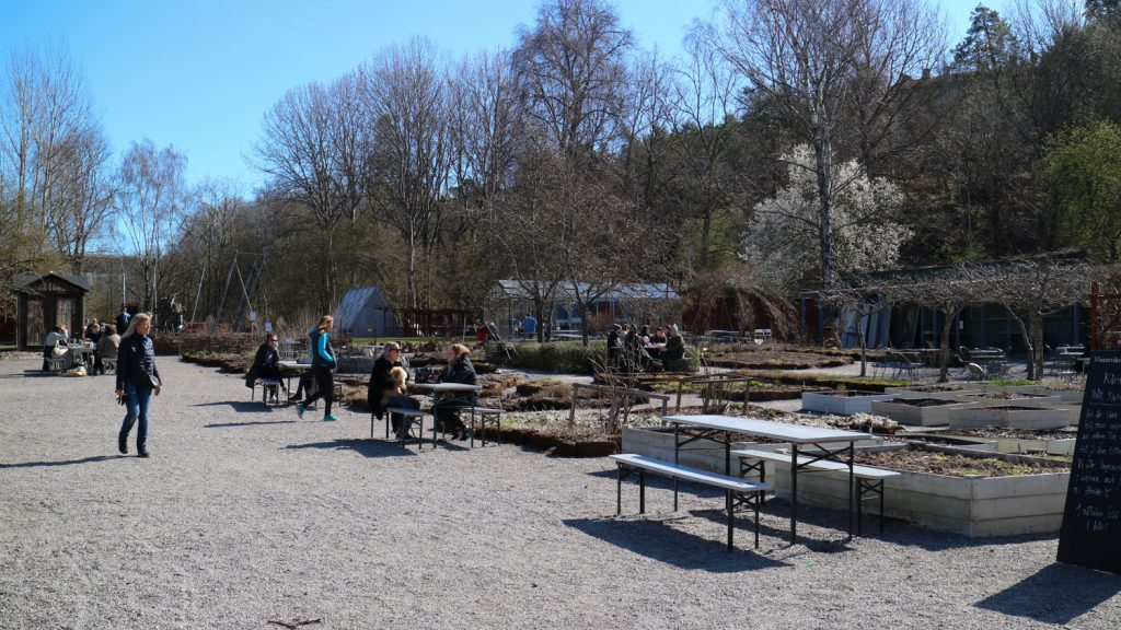 Vinterviken trädgårdscafé i Stockholm
