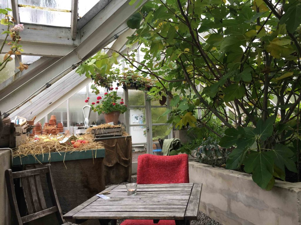 Äppelfabriken trädgårdscafé i Stockholm