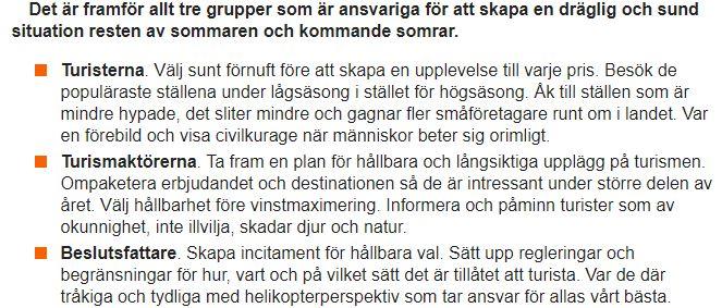 Överturism i Sverige - aftonbladet debattartikel