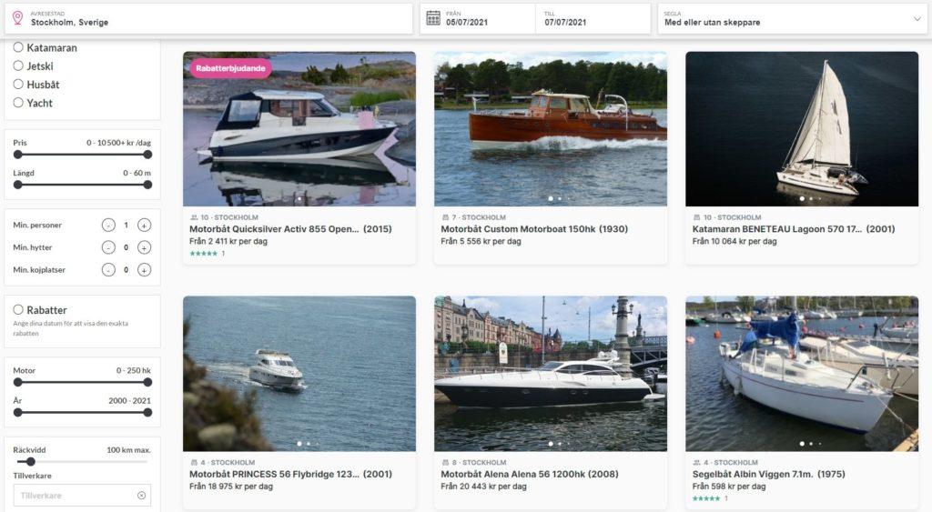Click&boat hyra båt i Stockholm